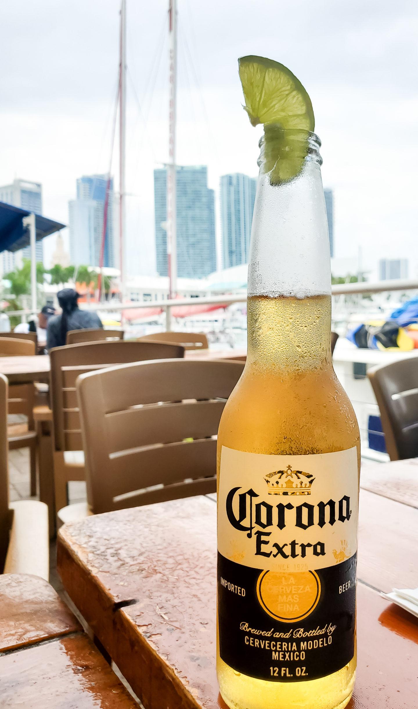 Cold Corona beer