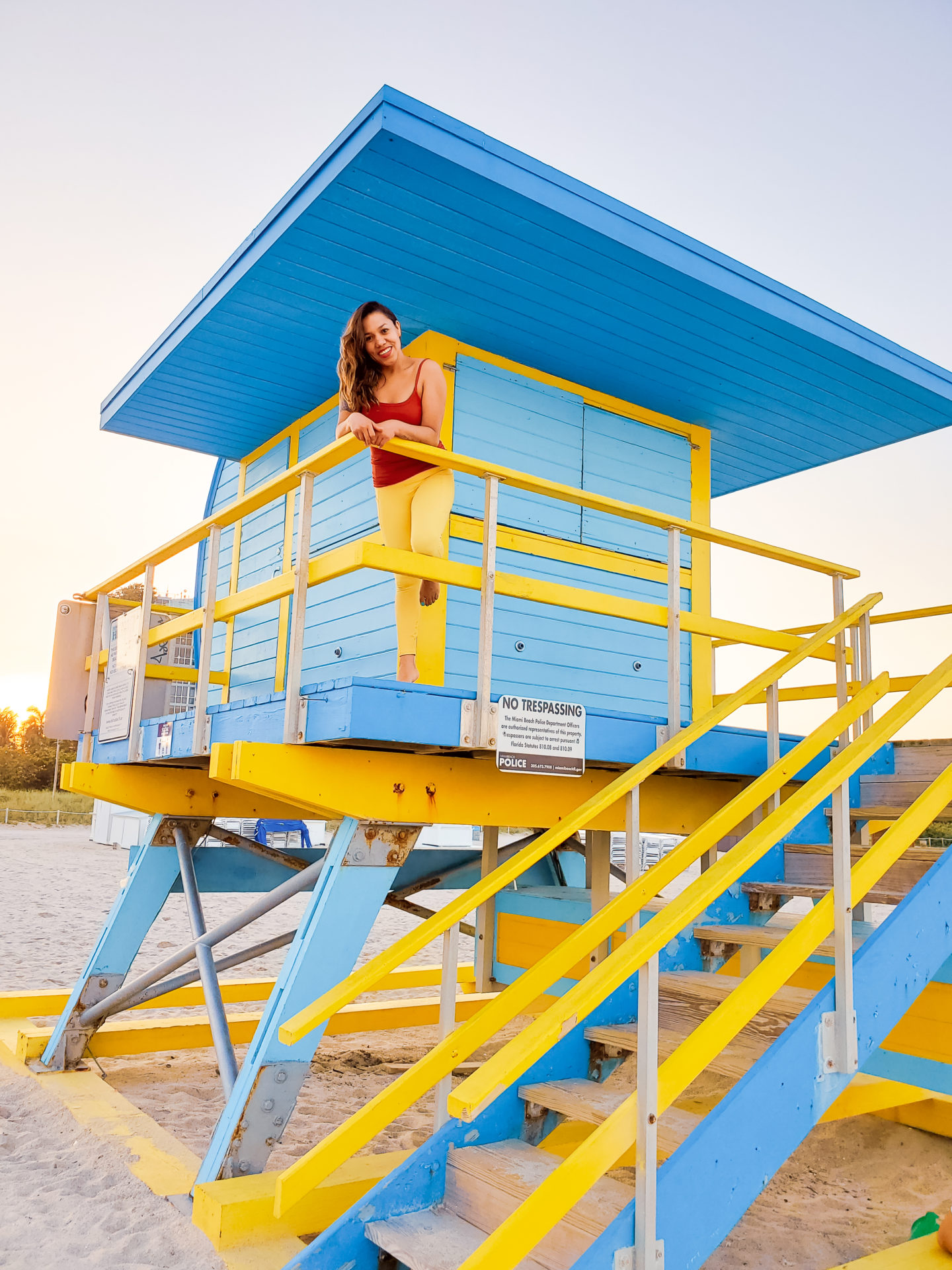 Francia in a Lifeguard Tower.