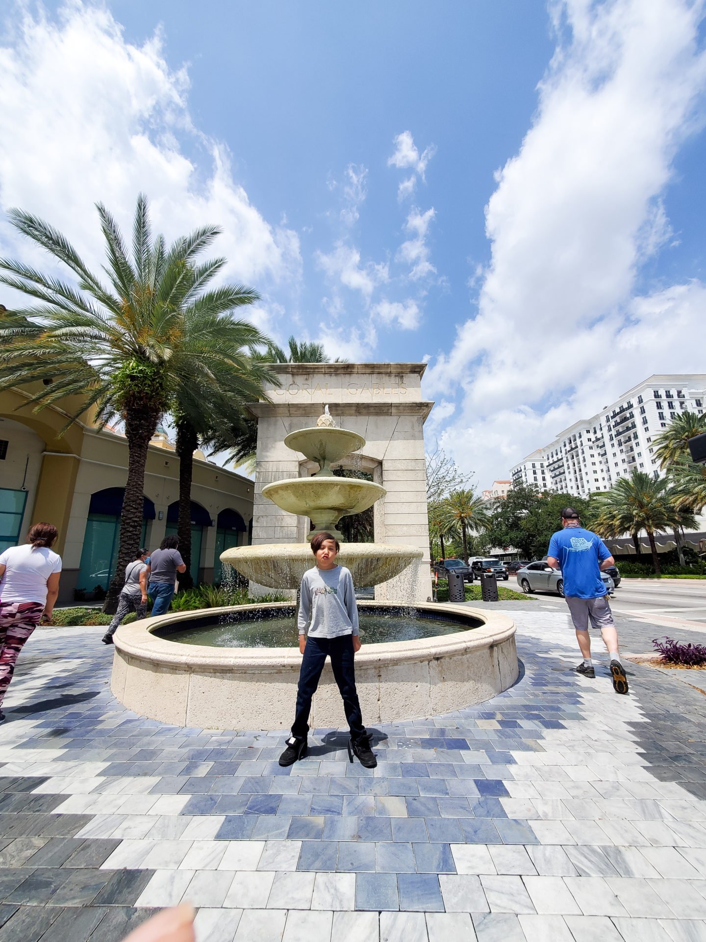 Christopher Walking Down Coral Gables.